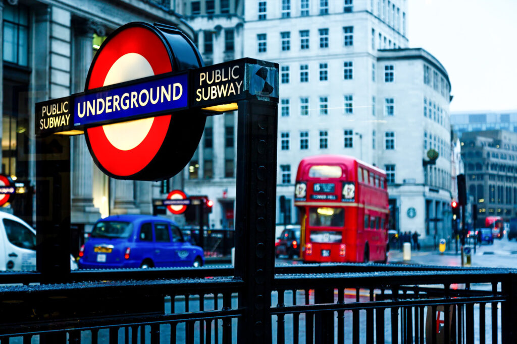 Entrance to the London Underground.