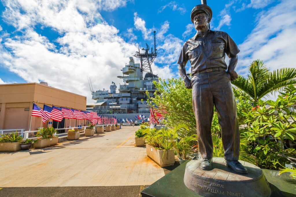 Entrance to the USS Missouri Memorial site