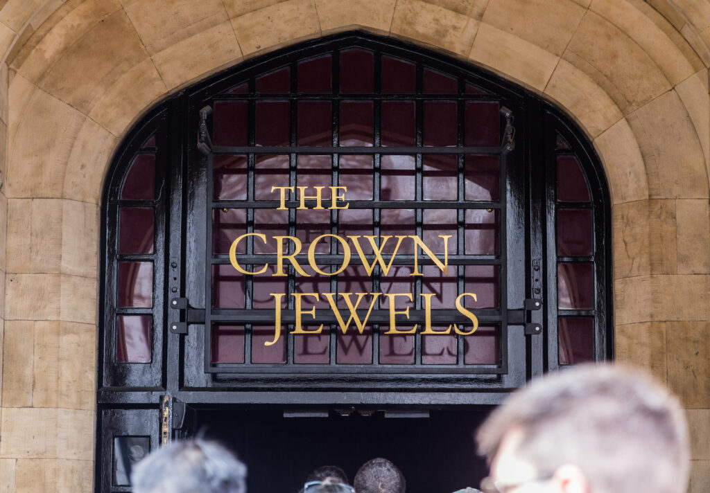 Entrance to view the Crown Jewels.