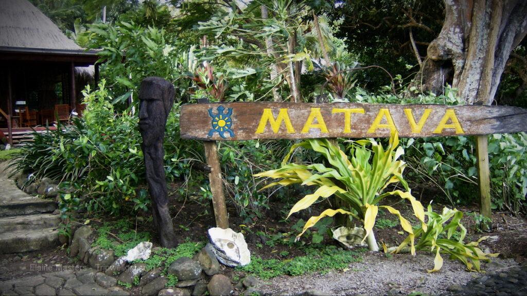 Entry sign, Matava Resort, Kadavu Island.