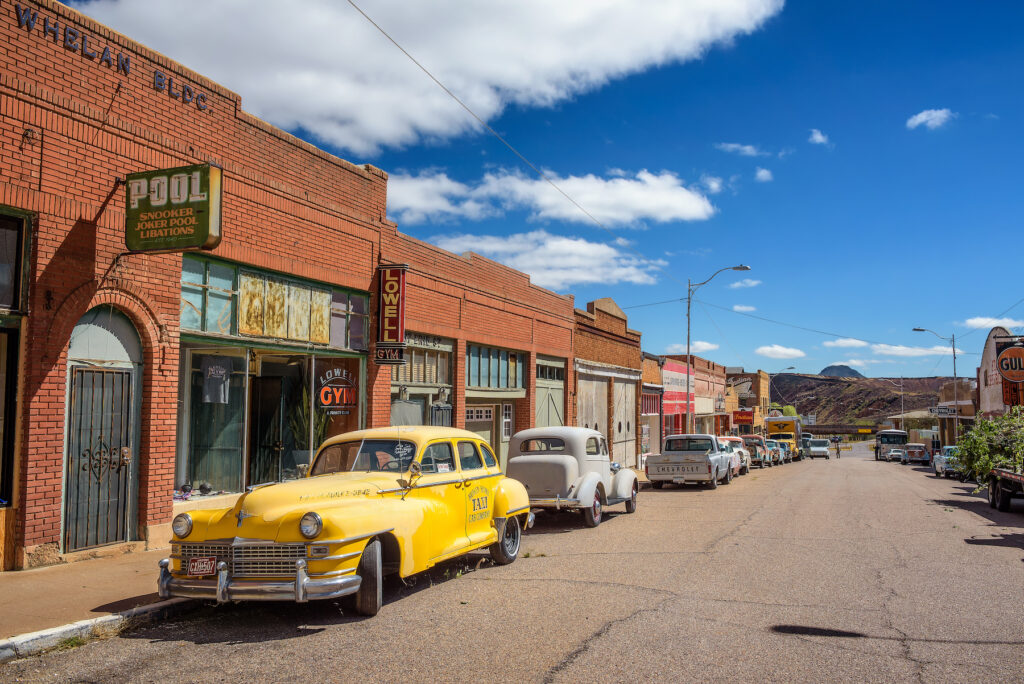 Erie Street in Bisbee, Arizona.