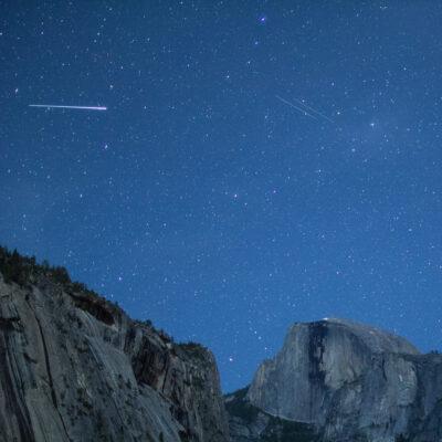 Eta Aquarids over Yosemite National Park.