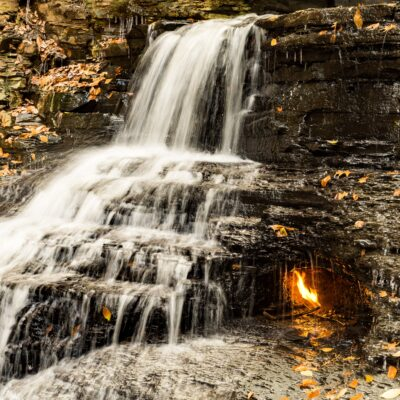 Eternal Flame Falls in New York.