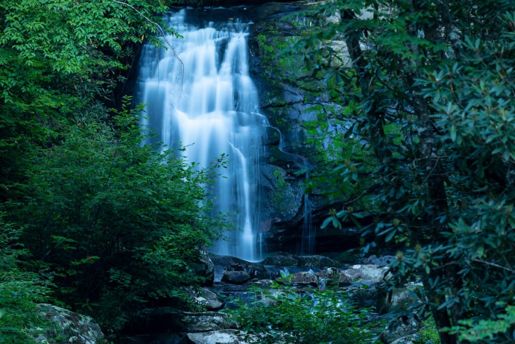 Evening at Fall Creek Falls State Park in Tennessee.