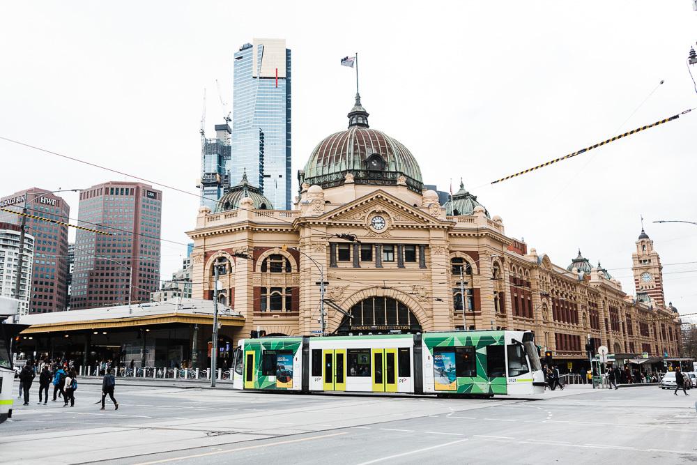 Exploring downtown Melbourne, Australia.