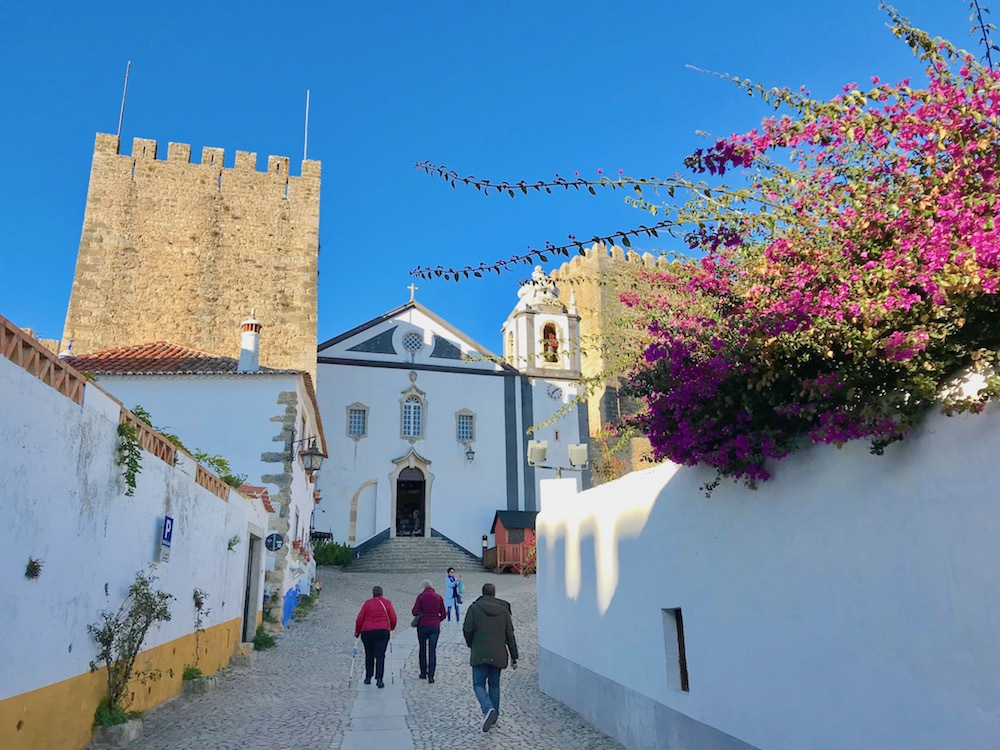 Exploring the streets of Obidos, Portugal.