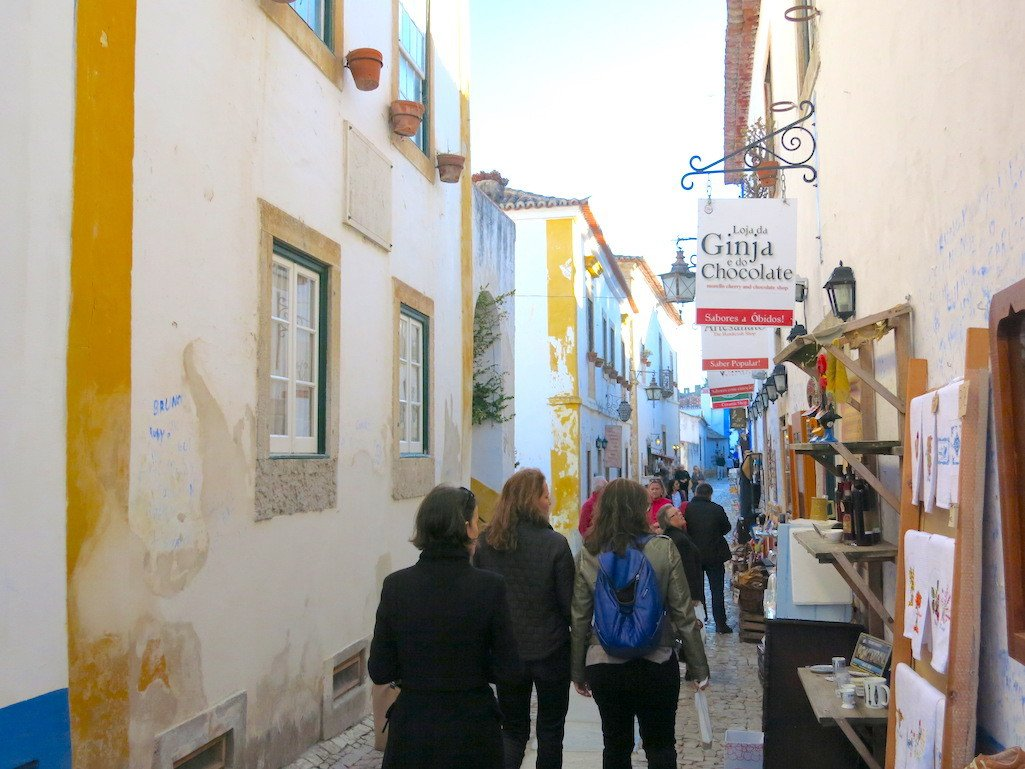 Exploring the streets of Obidos.