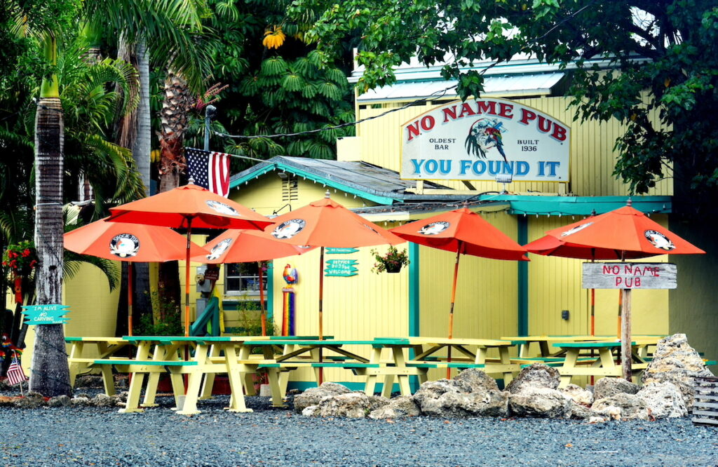 Exterior of No Name Pub.