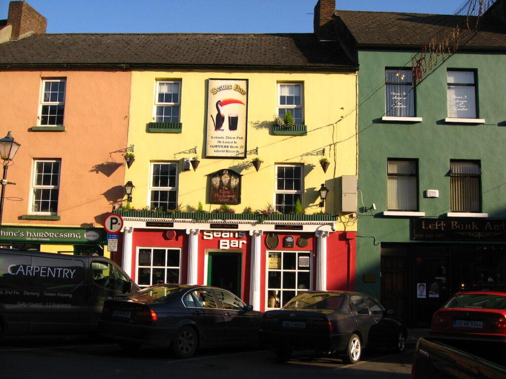 Exterior of Sean's Bar in Athlone, Ireland.