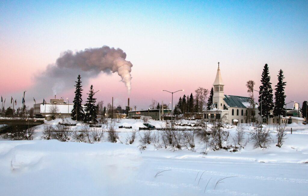 Fairbanks, Alaska, during the winter time.