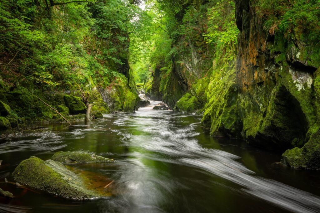 Fairy Glen Gorge in Snowdonia.