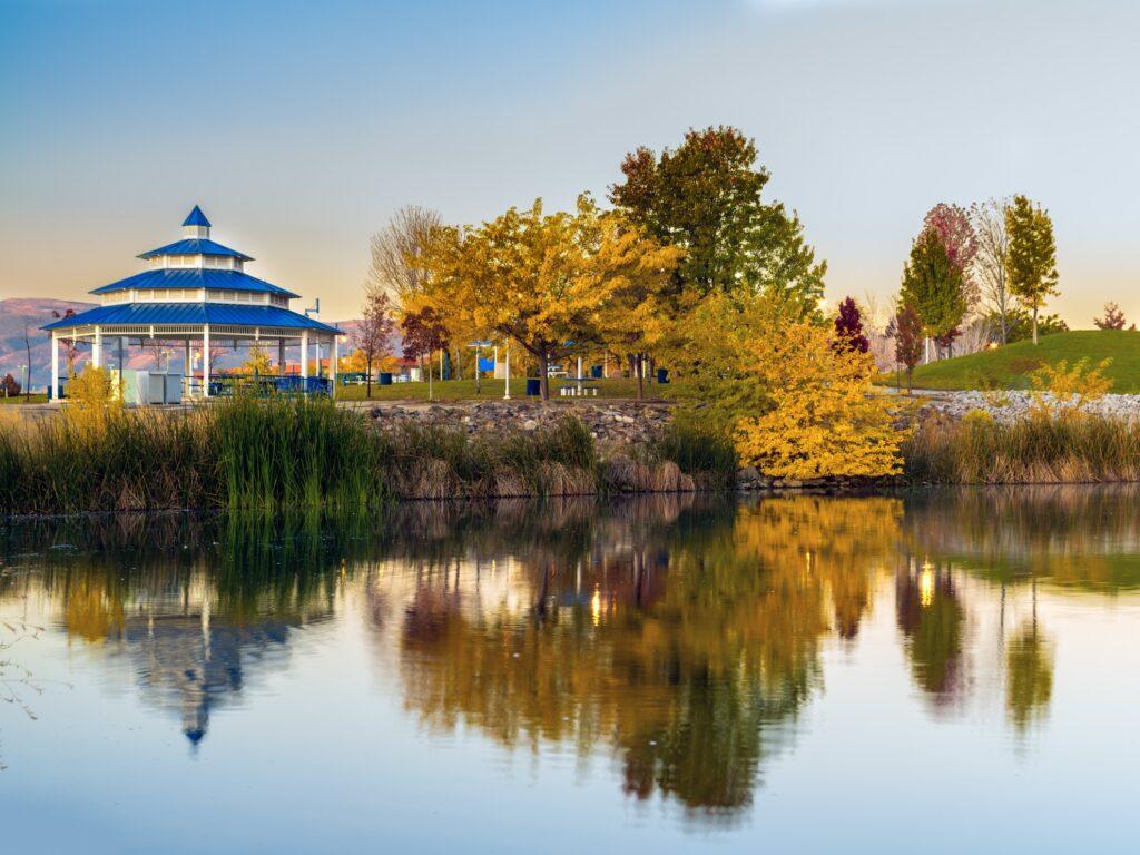 Fall colors at Sparks Marina Park.