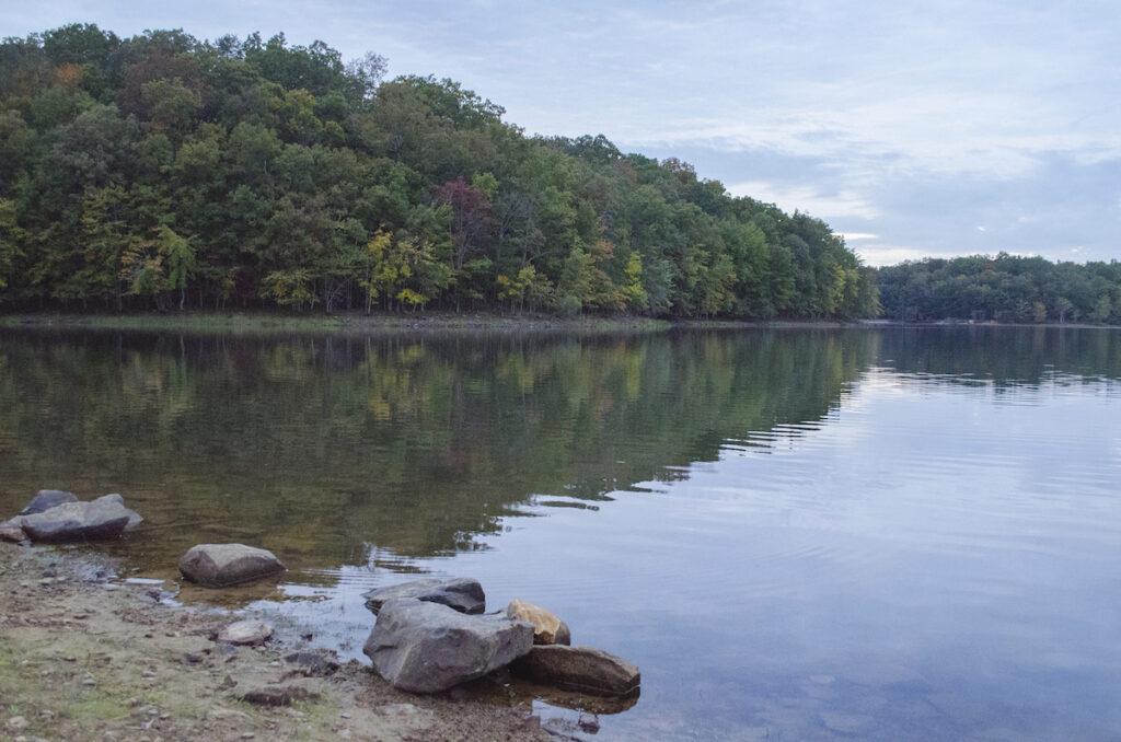 Fall Creek Falls Lake in Tennessee.