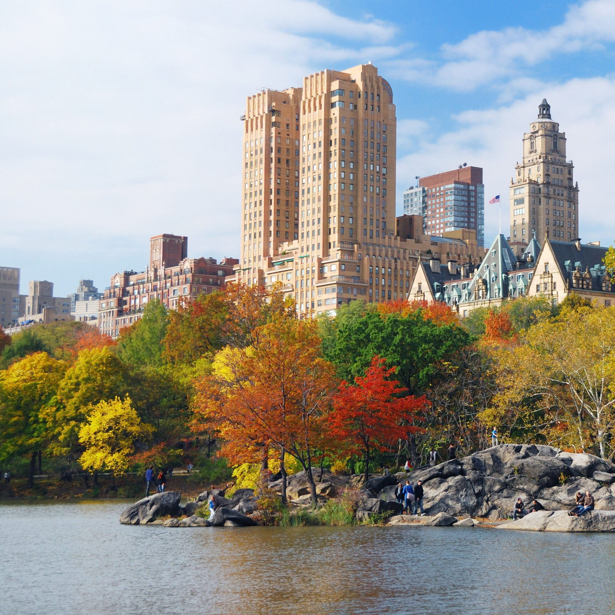 Fall foliage at Central Park in New York City.