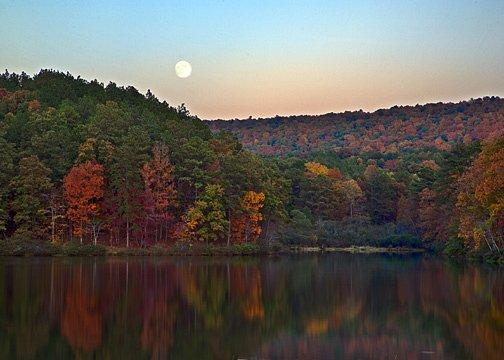 Fall foliage at Oak Mountain State Park in Alabama.