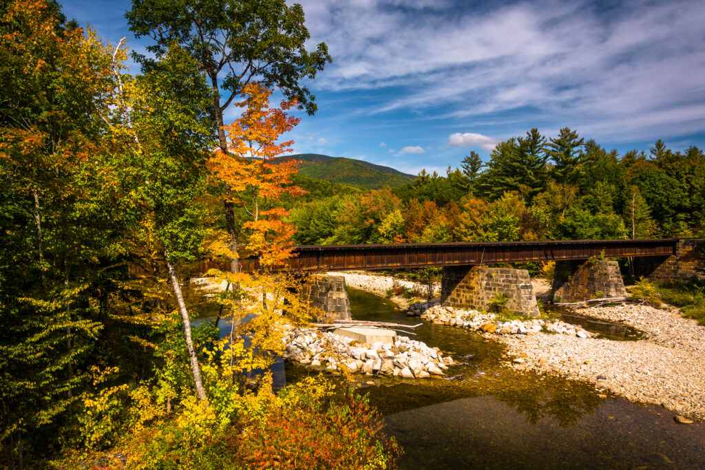 Fall foliage in Bethel, Maine.