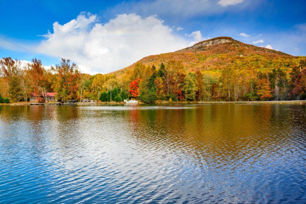 Fall foliage in Helen, Georgia.