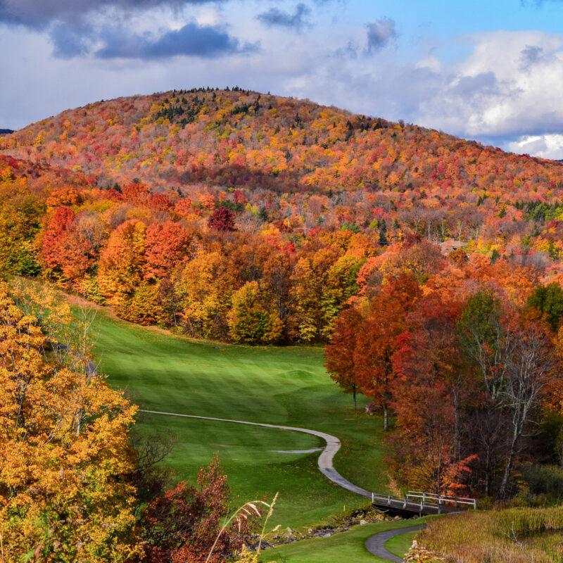 Fall foliage in Killington, Vermont.