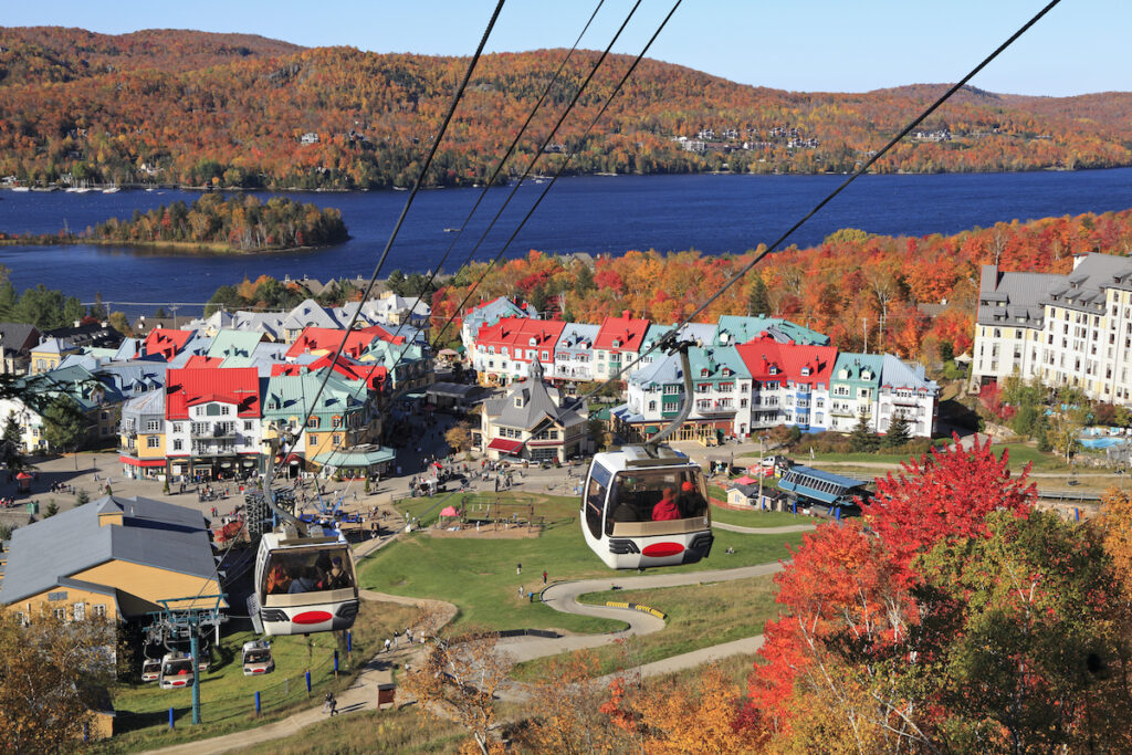 Fall foliage in Mont-Tremblant, Quebec.