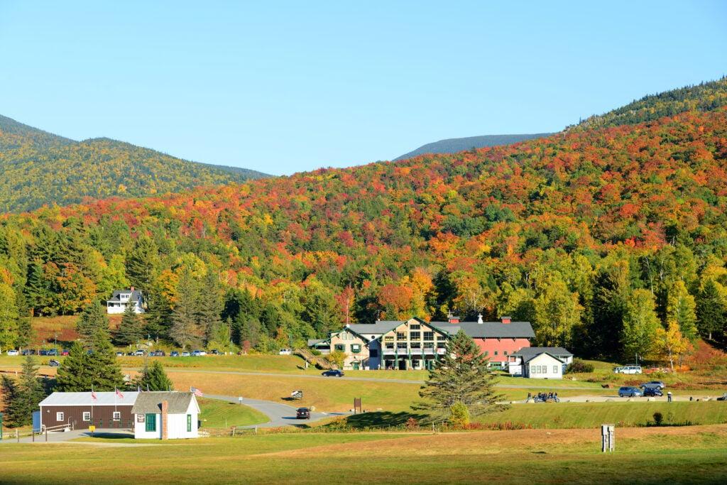 Fall foliage in Pinkham Notch, New Hampshire.