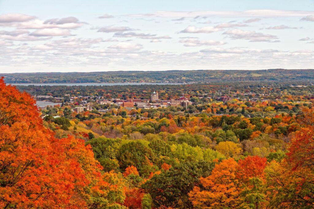Fall foliage near Traverse City, Michigan.
