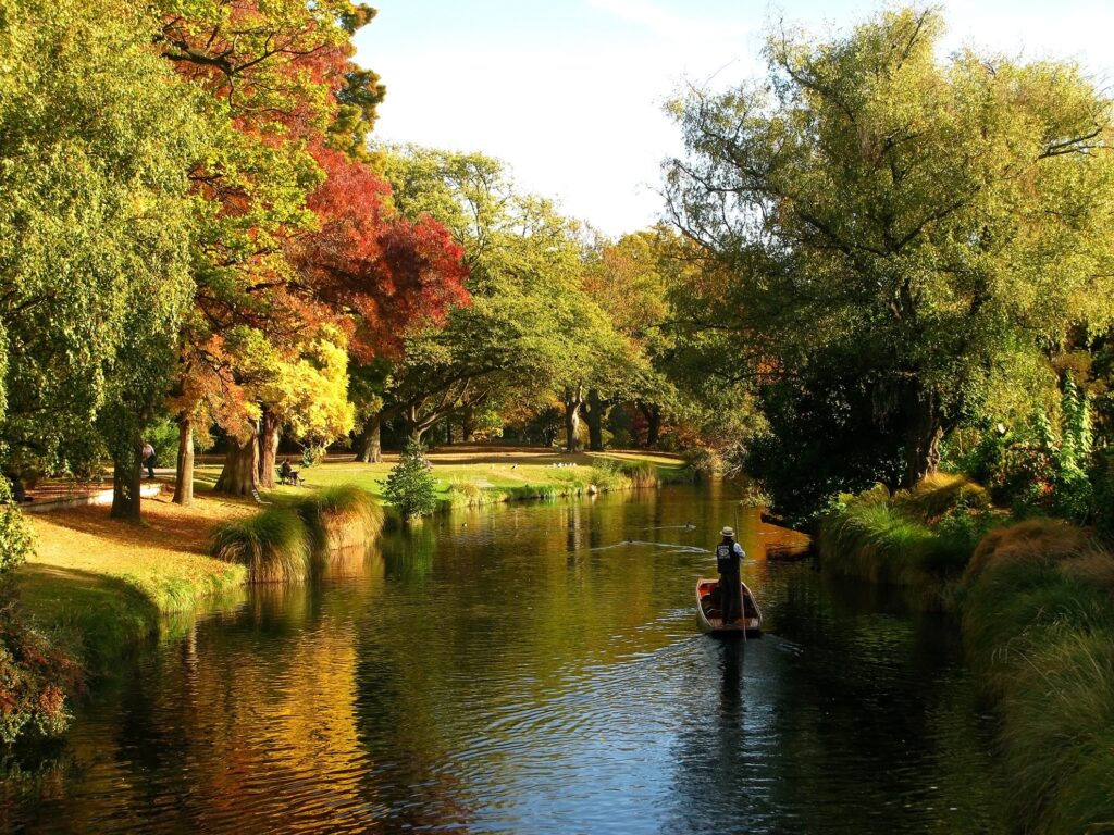 Fall in Christchurch, New Zealand.
