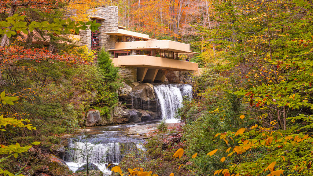 Fallingwater in the Laurel Highlands of Pennsylvania.