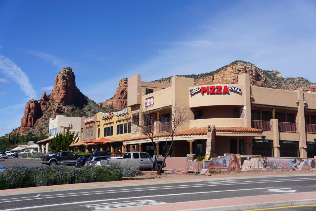 Famous Pizza and Beer in Sedona.