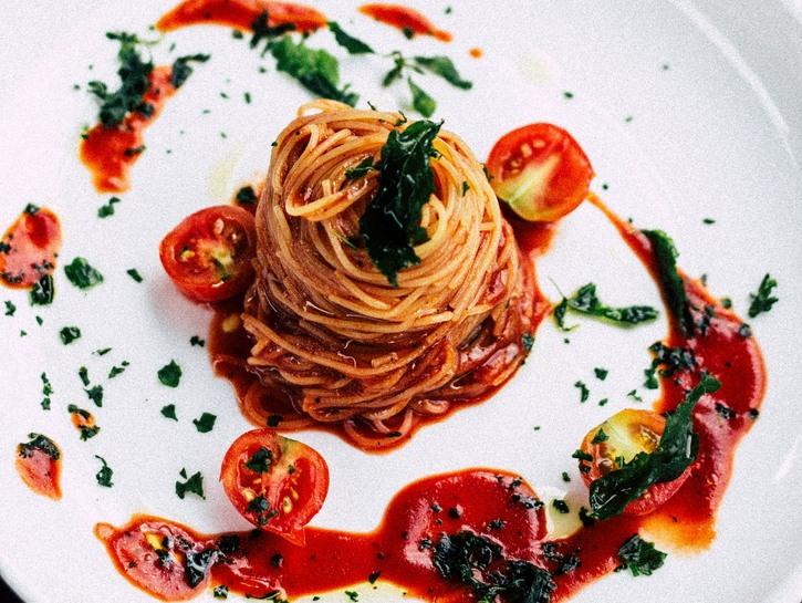 Fancy spaghetti dinner
