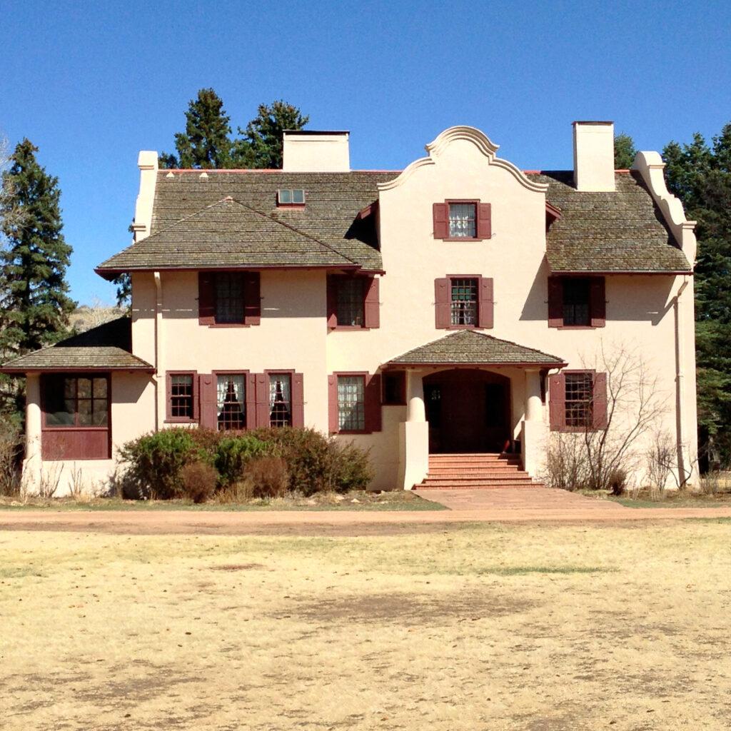 Farm house the Rock Ledge Ranch in Colorado.