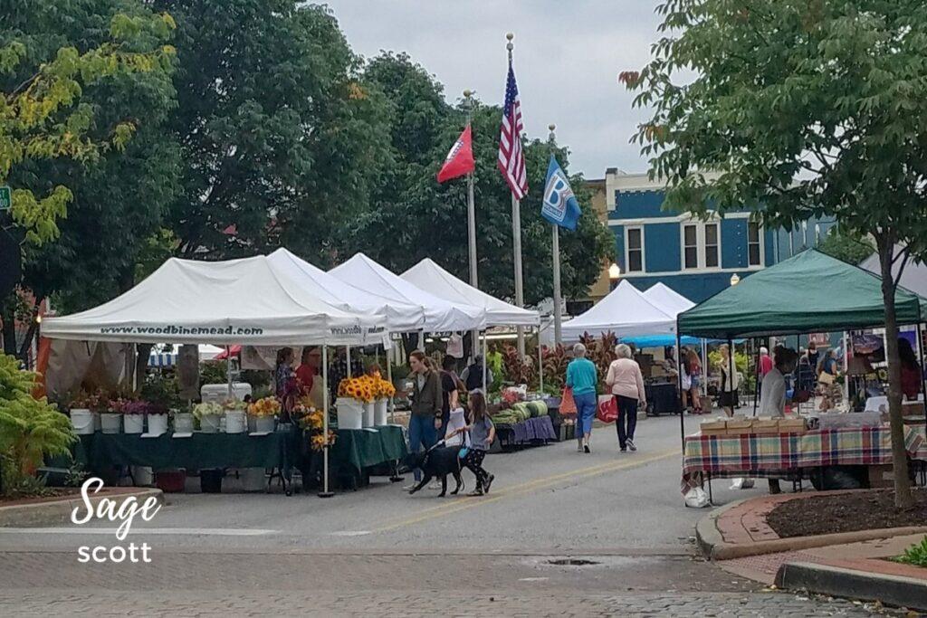 Farmer's Market in Bentonville, AR.