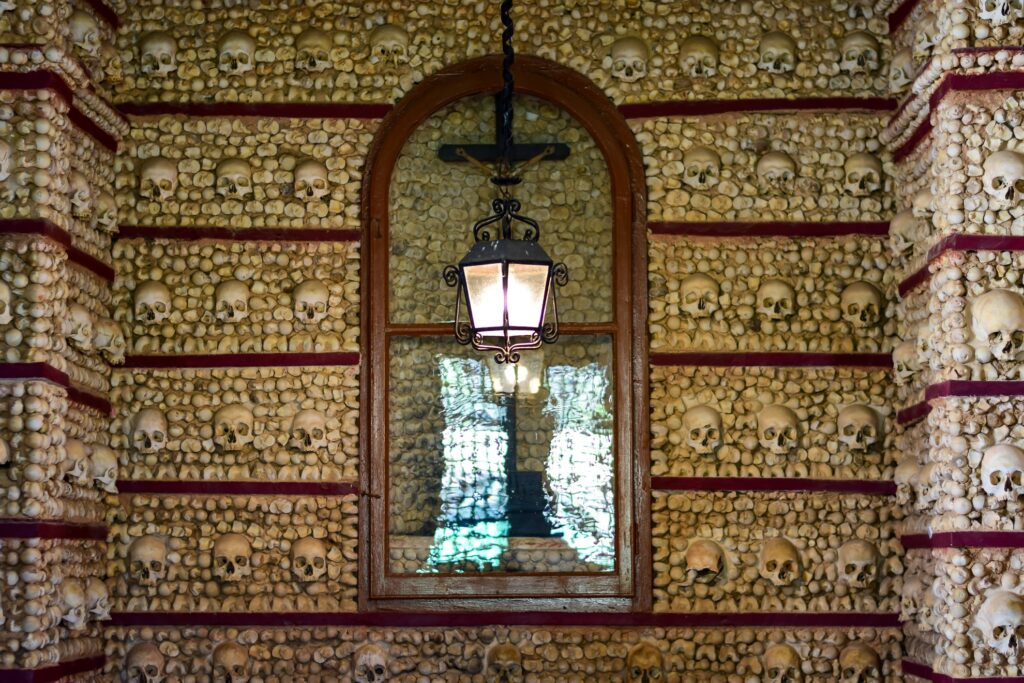 Faro's Chapel of the Bones in Portugal.
