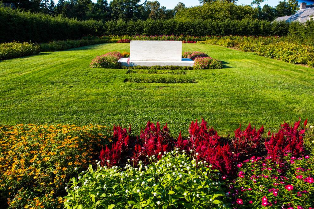 FDR and Eleanor Roosevelt's garden gravesites.