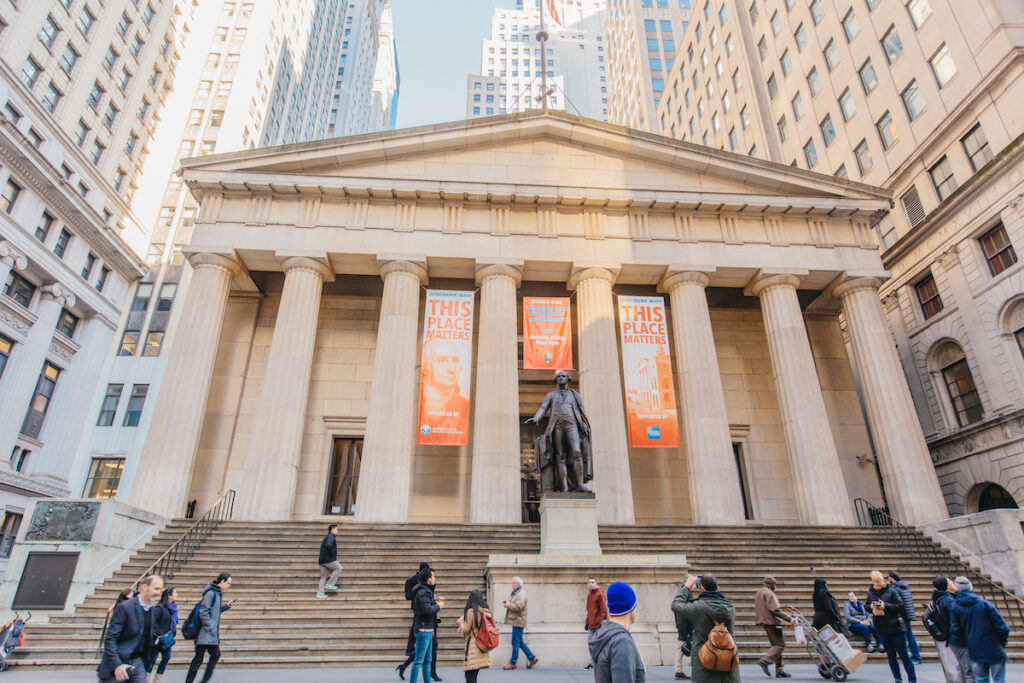 Federal Hall in New York City.
