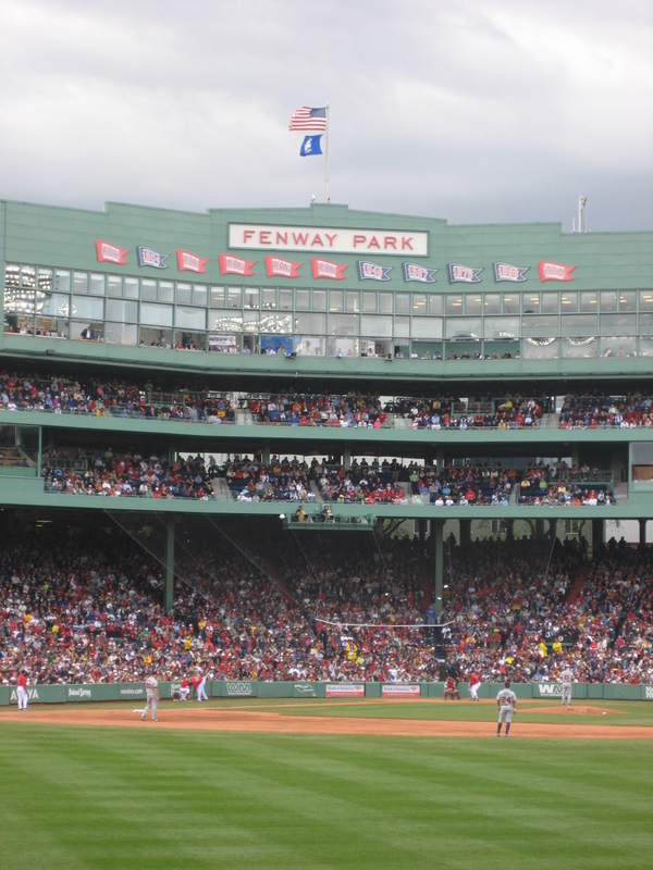 Fenway Park view from the field