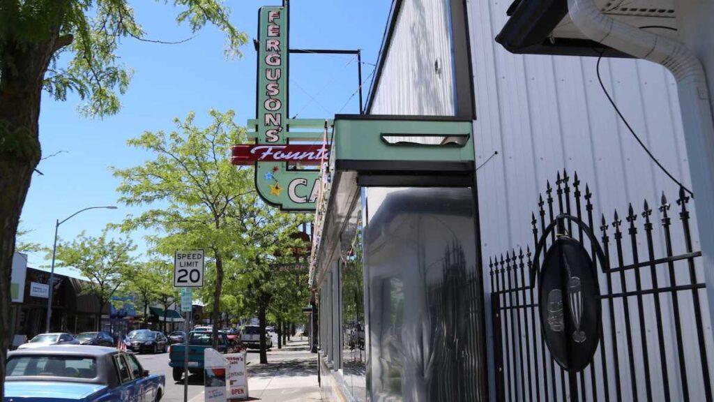 Ferguson's Fountain Cafe in the Garland District of Spokane.