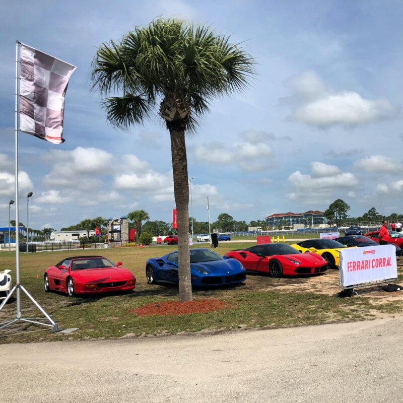Ferrari corral at Sebring International Racetrack.