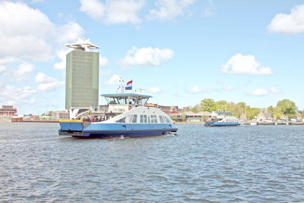 Ferries in Amsterdam.