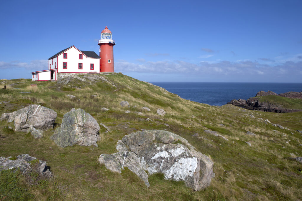 Ferryland Head lighthouse in Newfoundland.