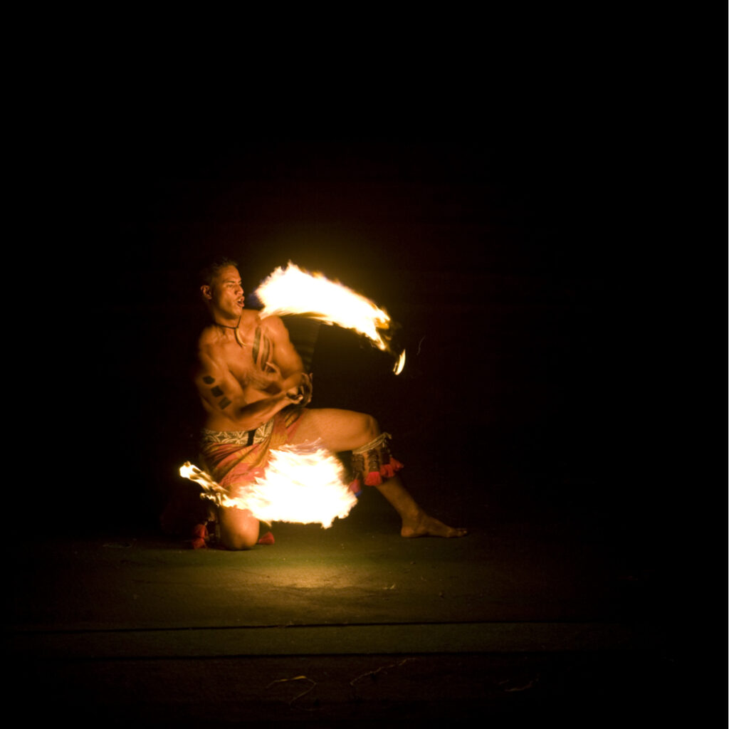 Fire dance at the Polynesian Cultural Center