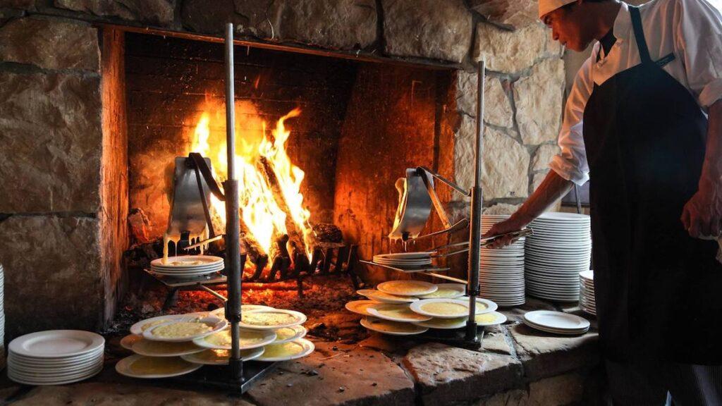Fireside Dining in Park City, Utah.