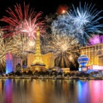 Fireworks in Las Vegas during New Years Eve.
