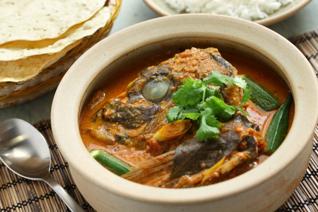 Fish head curry from Singapore.
