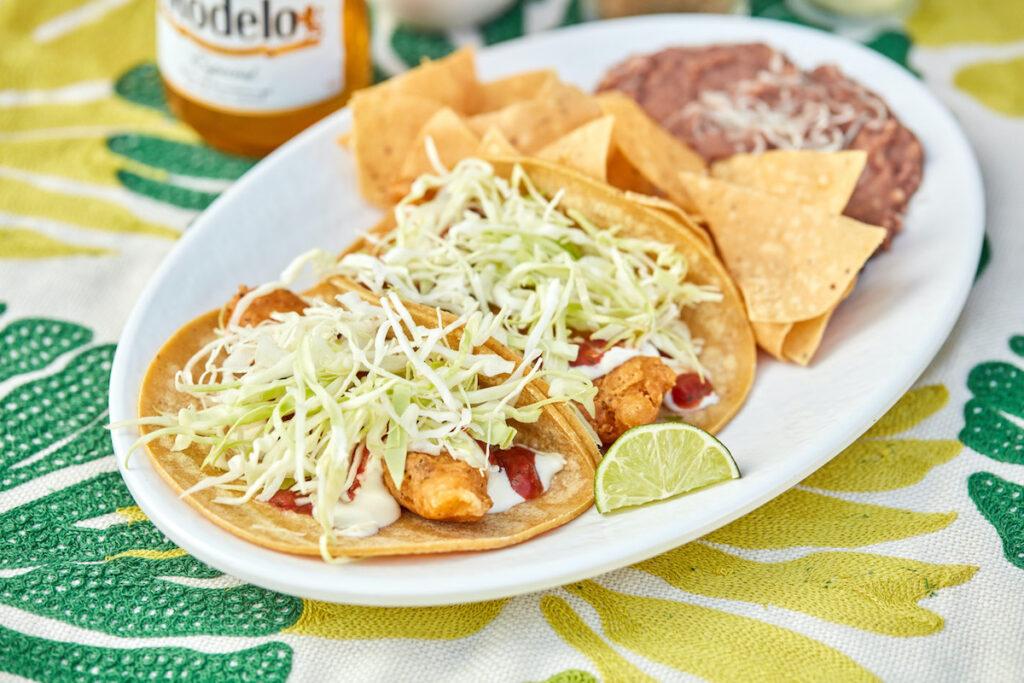 Fish tacos at Rubio's Coastal Grill.