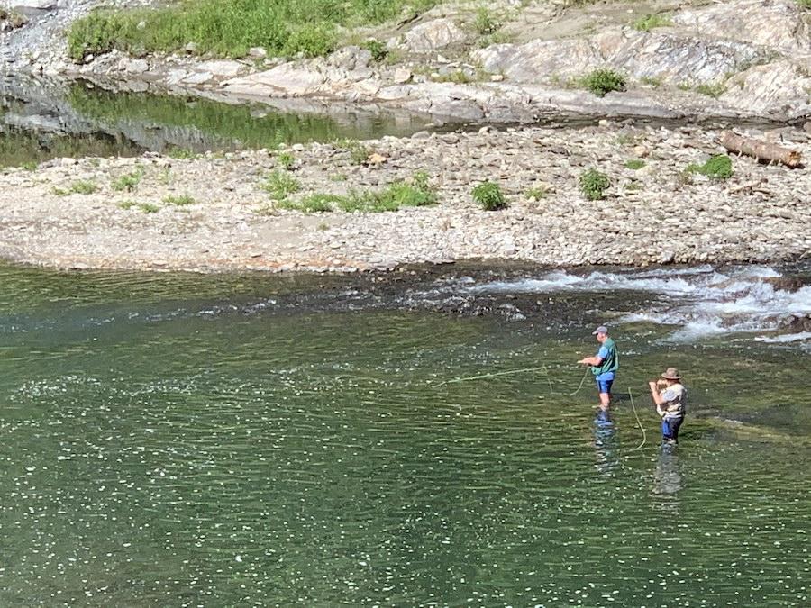 Fishermen in Quechee Gorge, Vermont.