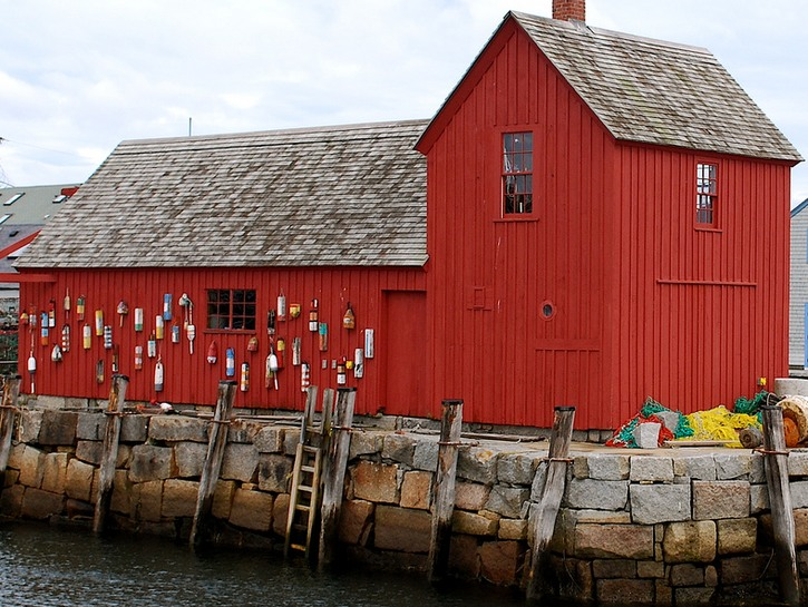 Fishing shack Motif Number 1 in the harbor town of Rockport