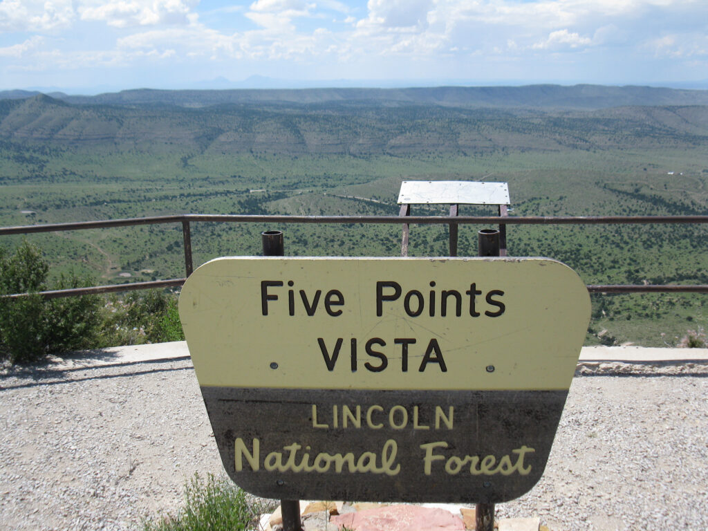 Five Points Vista in Lincoln National Forest.
