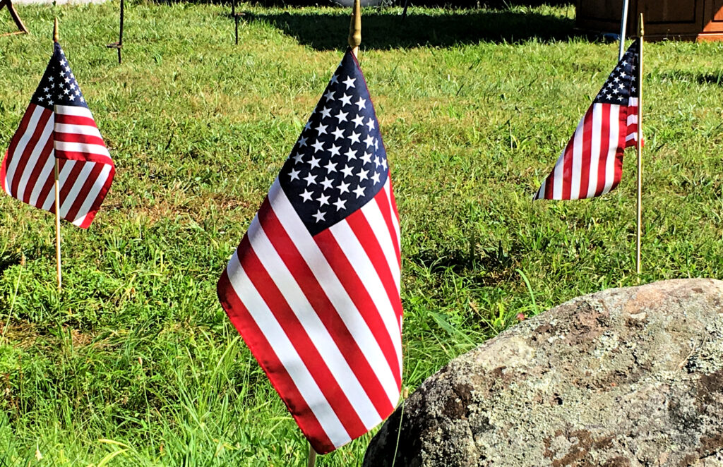 Flags at the Gettysburg National Military Park.
