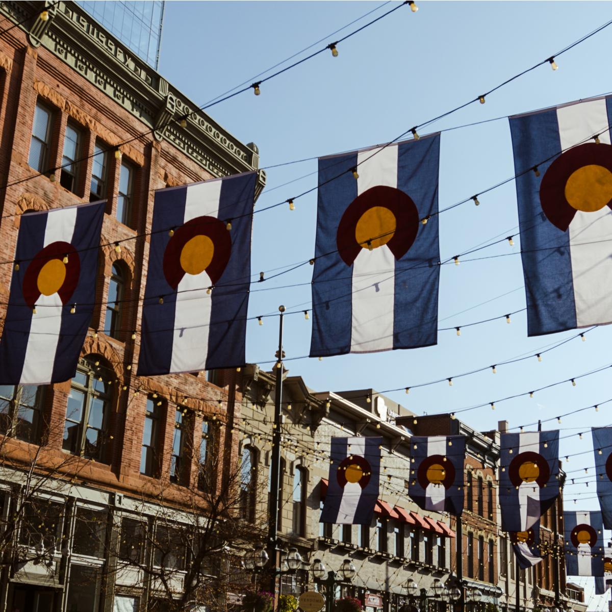 Flags, Larimer Street, Denver.