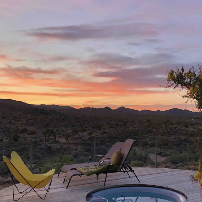 Flamingo Rocks Airbnb in Yucca Valley, California.